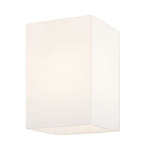 Satin White Square Glass Shade 3.75-Inch Wide 1.63-Inch Fitt