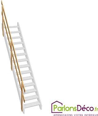 Escalera de madera con doble barandilla: Amazon.es: Bricolaje y herramientas
