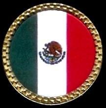Gatormadeメキシコ国旗ゴルフボールマーカー   B009MACDRW