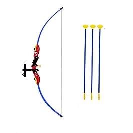 iris kid play archery set for kids (90 cm x 32 cm x 5 cm)- Multi color