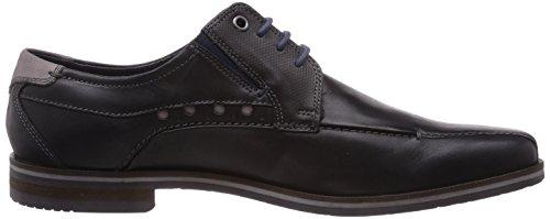 Bugatti U75071 - zapatos con cordones de cuero hombre negro - negro