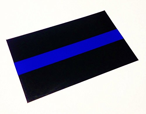 """Official 2x1"""" Us Made Thin Blue Line Official 3m Reflective License Plate Police LEO Sticker Decal"""