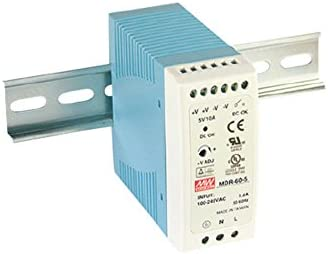 Din-Rail Fuente de alimentación 50W 5V 10A ; MeanWell, MDR-60-5