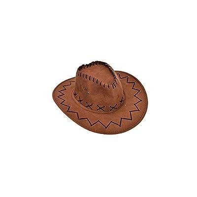 Sun hat Kids Girls Boys Cowboy Hat with Wide Brim Belt Cowgirl Cap Suede Sun Hat
