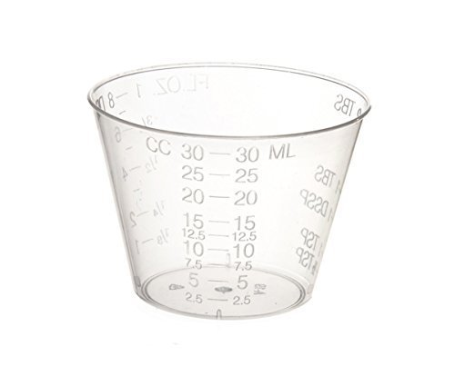 Non-Sterile Graduated Plastic Medicine Cups, Pack of 100 by A World of Deals?