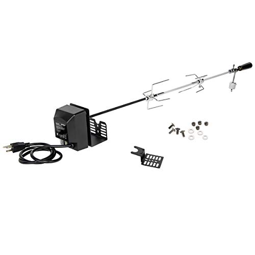 "onlyfire Universal Rotisserie Kit 32""- 42"" x 5/16"" Square Spit Rod for Use with 2 to 4 Burners Gas Grill"