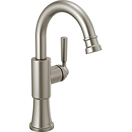 Image of Delta Faucet P1823LF-SS Westchester Bar Faucet Single Handle, Stainless Home Improvements