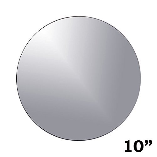 BalsaCircle 12 pcs 10-Inch Round Glass Mirrors for