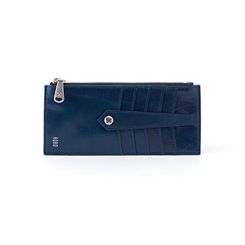 Hobo Women's Linn Genuine Leather Vintage Card Holder Wallet (Sapphire) (Hobo Zip Leather)
