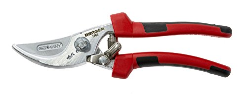 BERGER Tools BERGER #1766 Pruning Shear with Multi-Component Handle, Red/Black by Berger Tools Germany