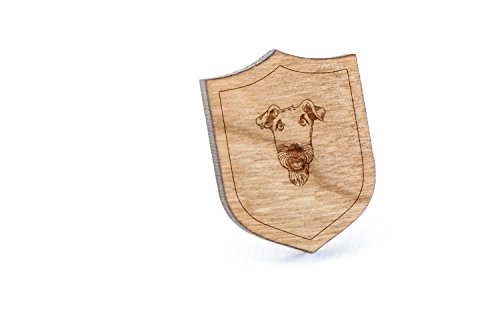 Airedale Terrier Lapel Pin, Wooden Pin