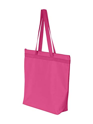 - Liberty Bags Recycled Large Tote With Zipper (Hot Pink) (One)