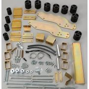 Performance Accessories, Nissan Frontier 2WD and 4WD Crew Cab Only 3″ Body Lift Kit, fits 2001 to 2004, PA40043, Made in America