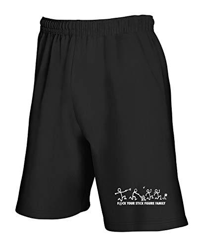 Stick Tuta shirtshock Family Fun0605 T 01 Die Nero Cut 35255 Anti Pantaloncini ZRqwxwT