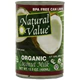 Natural Value Organic Coconut Milks 36x 13.5Oz