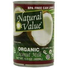 Natural Value Organic Coconut Milks 36x 13.5Oz by Natural Value