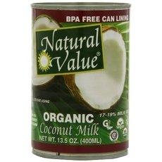 Natural Value Organic Coconut Milks 36x 13.5Oz