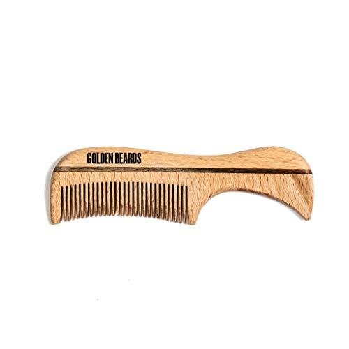 ECO WOOD VEGAN Comb for Moustache or Beard: Size 3.9 inch