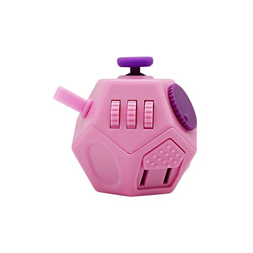- Orisignall Fidget Artifact Cube,Upgrade 12 Sides Fidget Dice Mini Toy for Children and Adults ,Very Easy to Use and Carry(Pink)