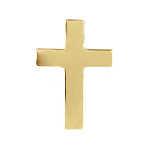 14k Yellow Gold 9x7mm Polished Cross Lapel Pin ()