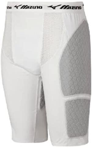 Mizuno Youth G3 Padded Sliding Short with Cup (White, Small)