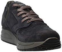 Scarpe da Uomo Sneakers iMac Sportive in camoscio Autunno Inverno 404110 Blu