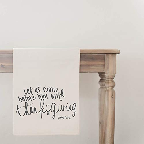 Let Us Come Before Him Table Runner, home decor, present, housewarming gift, seasonal decor, tableware, Thanksgiving table, fall decor