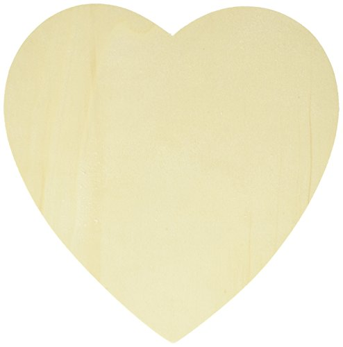 Lara's Crafts Unfinished Wood Shape, Heart, 12 Piece by Lara's Crafts