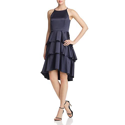 Nanette Nanette Lepore Women's Slvls Halter Dress W/Tiered Skirt, Parisian Night, 8 - Nanette Lepore Silk Skirt