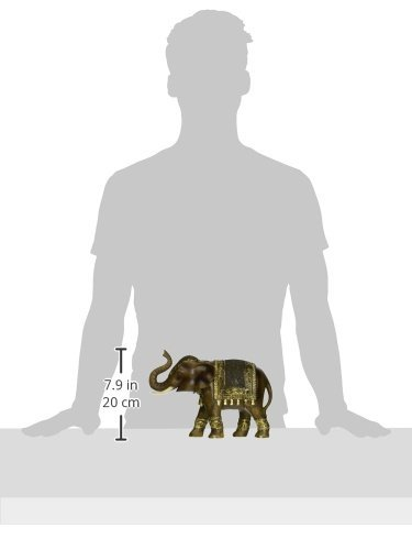 Deco 79 Polystone Elephant, 11 by 8-Inch by Deco 79 (Image #3)