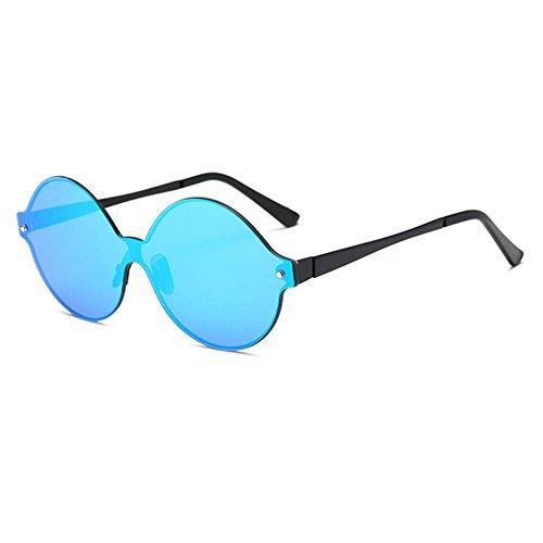 Aoligei Verres de couleur vive d'européens et américains grande hauteur dames Big frame lunettes de soleil lunettes de soleil la mode nrHlOQ