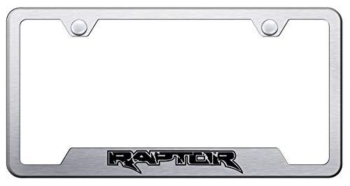 Automotive Gold Laser Etched Brushed Raptor Cut-Out Frame