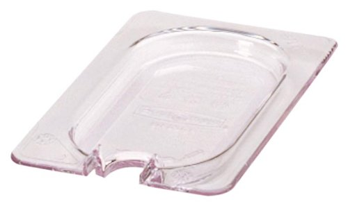Rubbermaid Commercial Products Cold Food Notched Lid, 1/9 Size, Clear (FG102P86CLR)