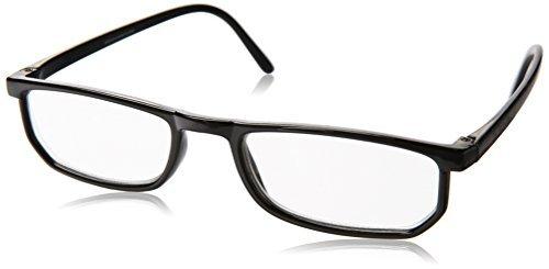 Dr. Dean Edell Basic Plastic Black Rectangle and DDE Case, +1.50, 1 Count by Dr. Dean Edell Dean Edell Eyewear