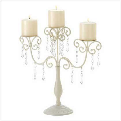 Ivory Elegance Candleabra by Unknown