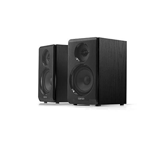 Edifier R33BT Actieve Bluetooth-computerluidsprekers – 2.0-rekkenluidsprekers – Powered Studio Monitor, Zwart – Paar