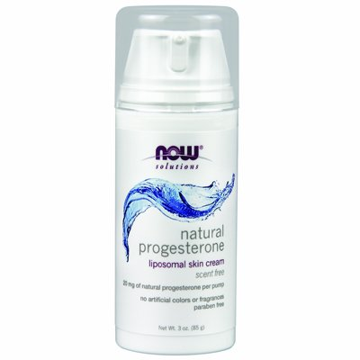 NOW Foods Solutions Natural Progesterone Cream Scent Free -- 3 oz