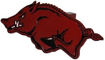 Jenkins Enterprises Arkansas Razorbacks Logo HD Metal Trailer Hitch Red Cover