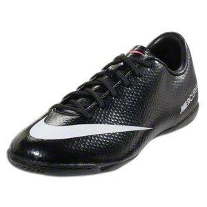 Nike Kids JR Mercurial Victory IV IC Indoor Soccer Shoes Black/White/Drk  Chrcl