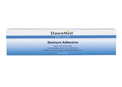 Dawn Mist Denture Adhesive, Extra Hold, Zinc Free, 2 Ounce, White, DA2 (BX/36)