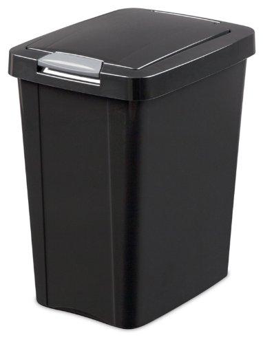 Sterilite 10439004 TouchTop Wastebasket Titanium