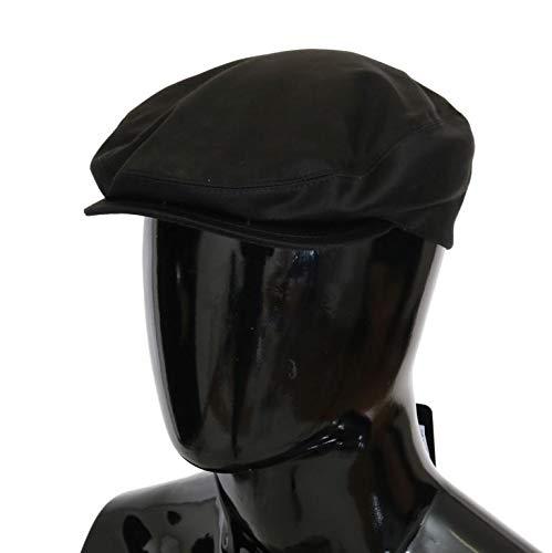 Dolce & Gabbana Black Solid Silk Newsboy Hat