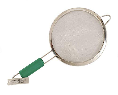 Elisabeth Nielsen Fine Mesh Strainer with Handle, Stainless Steel. Use as Pasta Strainer, Flour Sifter, for Amaranth, Quinoa Strainer, Matcha Sifter, Wide Gentle Handles ()