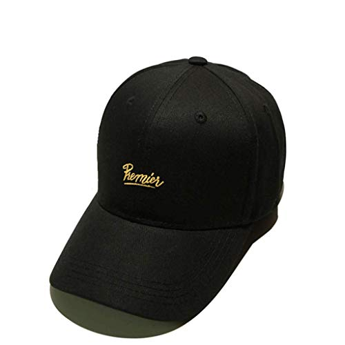 SLH メンズ野球帽トレンドヒップホップレジャースポーツブラックカーブした庇サマー女性シンプルなサンシェードキャップ。