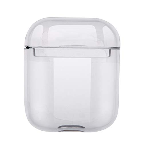Sodoop for AirPods Case, Pure Fluorescent Clear Protective PC Material Polished Surface Case Cover Skin Accessories Compatible for Apple AirPods Charging Case