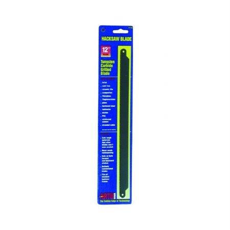 Hacksaw Blade, Tungsten Carbide Grit, 12In