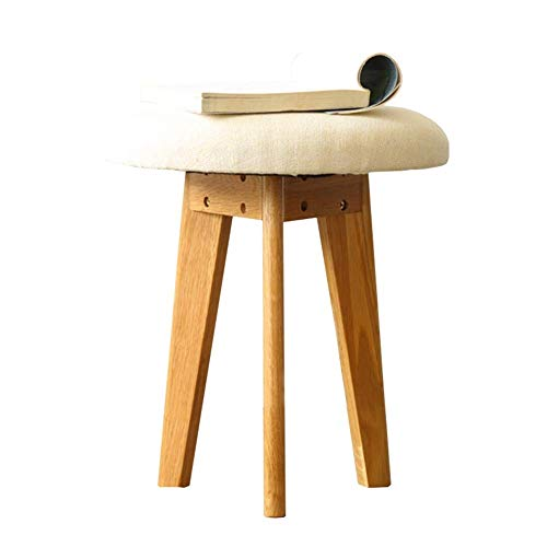 AINIYF Sofa Stool Solid Wood Dressing Stool Shoe Bench with Cushion and 4 Solid Legs for Space Saving