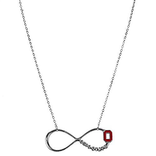 Rosemarie Collections Women's Ohio State Buckeyes OSU Infinity Pendant Necklace