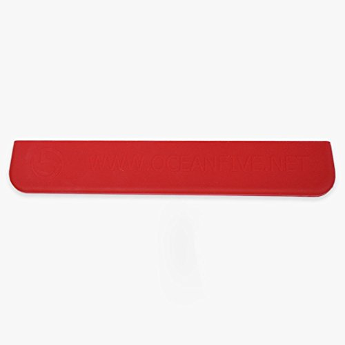 Burnwater Silicone Rubber Tip protector (Red) For Dragon Boat Paddle (Boat Red Dragon)