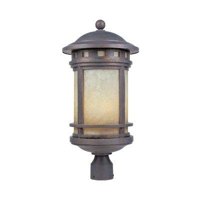Sedona 11'' Post Lantern by Designers Fountain 2396-AM-MP in Brown Finish